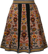 M Missoni floral pleated skirt