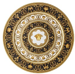 Versace By Rosenthal I Love Baroque Noir Limited Edition Service Plate
