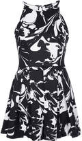 Topshop Monochrome abstract playsuit