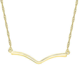 FINE JEWELRY Womens 10K Gold Curved Pendant Necklace