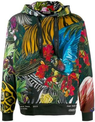 Roberto Cavalli Paradise Found printed hoodie