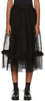 Simone Rocha Black Marabou Tulle Smocked Skirt