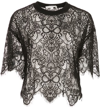 Jonathan Simkhai Cropped Lace Top