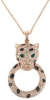 Effy Jewelry Effy Signature 14K Rose Gold Diamond and Emerald Pendant, 0.79 TCW
