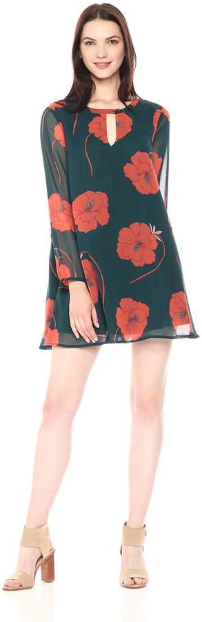 Cupcakes And Cashmere Women's Sybella Floral Print a Line Dress