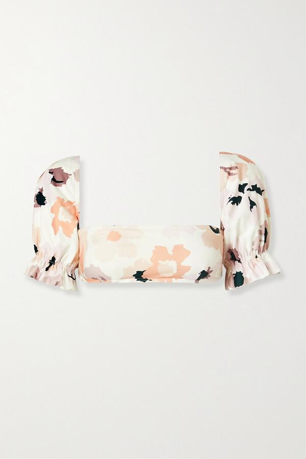Thumbnail for your product : Peony Swimwear Soiree Convertible Floral-print Bikini Top