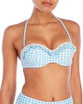 Betsey Johnson Gingham Bandeau Bikini Top