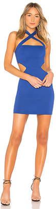 superdown Julianna Cross Front Dress