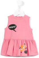 Fendi speech bubble print dress - kids - Cotton/Spandex/Elastane - 6 mth