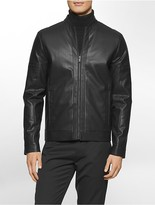 Calvin Klein Micro Square Faux Leather Jacket