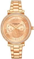Stuhrling Original Women's Aria Multi-Function Watch with Rosetone Dial