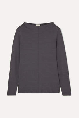 Hanro Easy Wear Cotton-blend Jersey Top - Charcoal