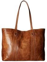 Frye Melissa Shopper (Beige Antique Pull Up) Hobo Handbags