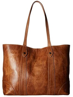 Frye Melissa Shopper (Beige Antique Pull Up) Hobo Handbags