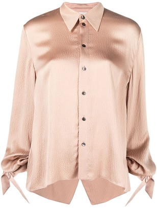 Roland Mouret Cassley draped silk shirt