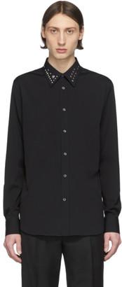 Alexander McQueen Black Poplin Shirt