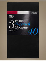 M&S Collection 3 Pair Pack 40 Denier Supersoft Opaque Tights