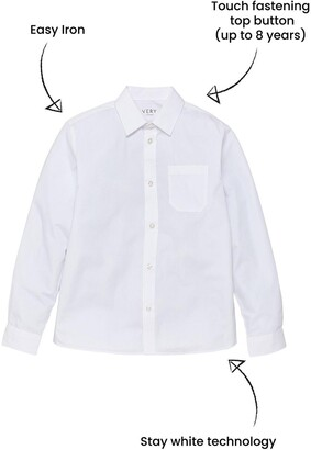Very Boys 3 Pack Long Sleeved School Shirts - White