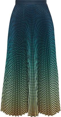 Mary Katrantzou Uni Pleated Degrade Crepe De Chine Midi Skirt