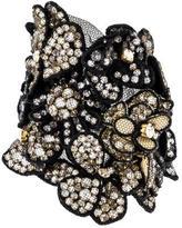 Vera Wang Crystal Flower Cuff Bracelet
