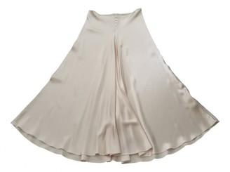 Plein Sud Jeans Ecru Silk Skirt for Women