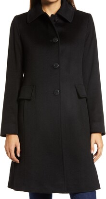Fleurette Club Collar Cashmere Coat