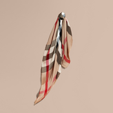 Burberry Lightweight Check Silk Modal Wool Square - Large