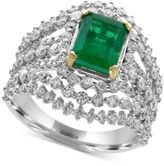 Effy Brasilica Emerald (1-3/8 ct. t.w.) and Diamond (1-5/8 ct. t.w.) Ring in 14k White Gold