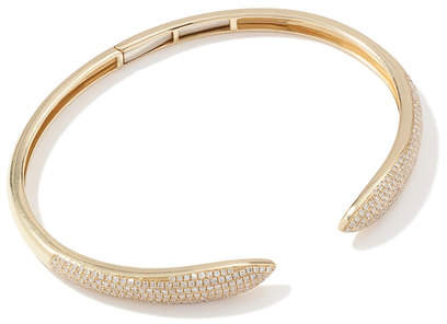 Anne Sisteron Diamond Horn Bangle Bracelet