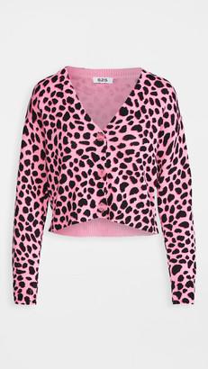 525 Cheetah Crop Cardigan