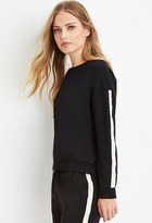 Forever 21 Faux Pearl-Trimmed Sweatershirt