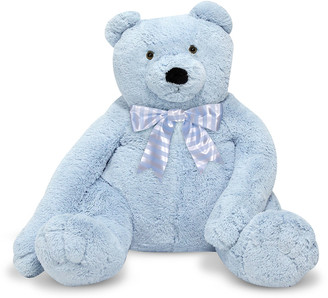 Melissa & Doug Jumbo Teddy Bear, Light Blue