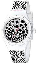 Reebok Icon Women's Quartz Watch with Black Dial Analogue Display and Black Silicone Strap RC-IRR-L2-PWIW-BW