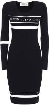Alyx Intarsia Logo Stretch Knit Mini Dress