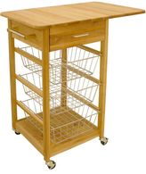 Catskill Craft Single Drop Leaf Basket Cart