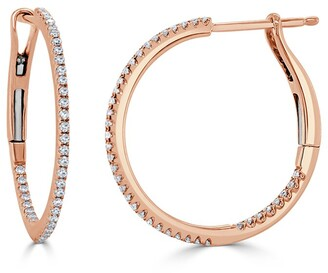 Sabrina Designs 14K Rose Gold 0.25 Ct. Tw. Diamond Hoops