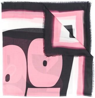 Emporio Armani Sheer Abstract Print Scarf