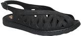 La Plume Black Leather Warwick Sandal