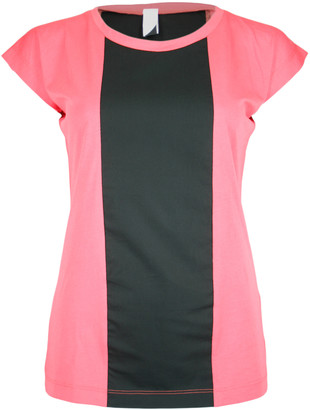 Format BASE Rose & Black Single Plain T-Shirt - M - Pink/Black