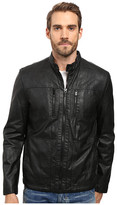 Kenneth Cole New York Marble PU Leather Jacket