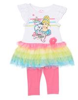 Children's Apparel Network White & Pink Palace Pets Tunic & Leggings - Toddler & Girls