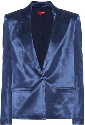 STAUD Madden cotton-blend sateen blazer