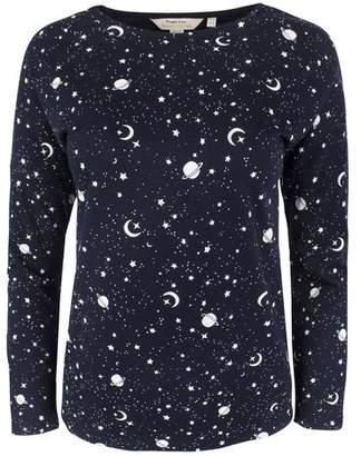 People Tree Galaxy Print Pyjama Long Sleeve Top - 8