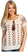 Lucky Brand Daphne Embroidered Top (Nigori Multi) - Apparel