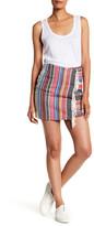 Sandro Tapestry Wrap Miniskirt