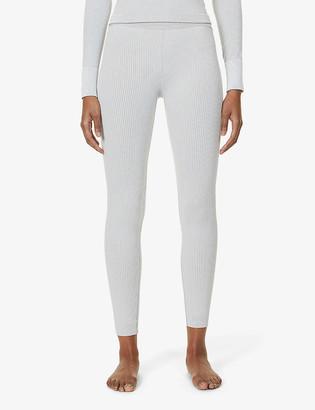 Cordova Ribbed high-rise stretch-woven leggings