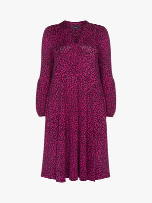 Live Unlimited Curve Animal Print Jersey Dress, Pink