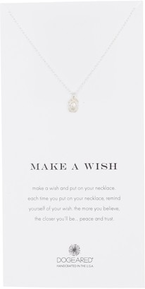 Dogeared Sterling Silver Make A Wish Scarab Pendant Necklace