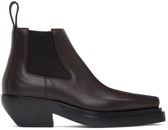 Bottega Veneta Brown Lean Chelsea Boots