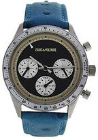 Zadig & Voltaire ZVM106 Master - Silver/Turquoise Leather Strap Watch 1 Pc